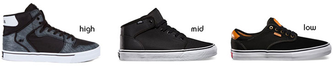 Types of Skateboard Shoes